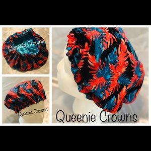 Cultural and apparel print bonnets